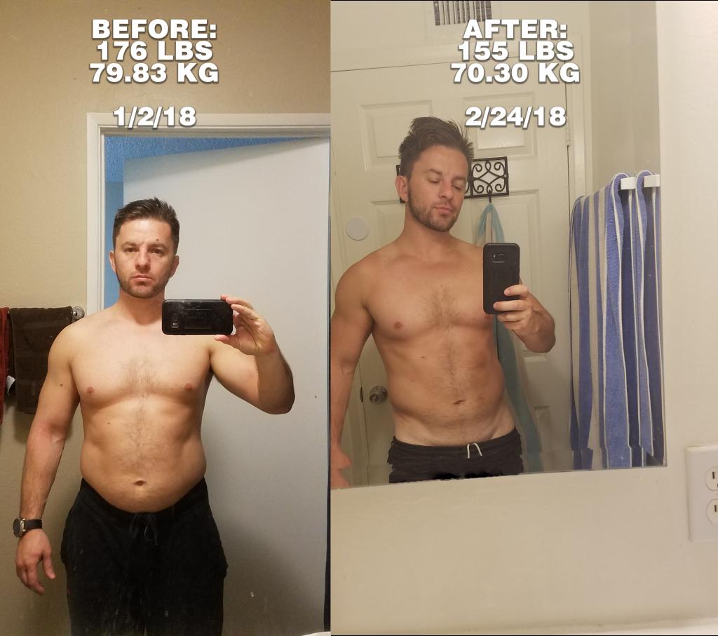 My weight transformation
