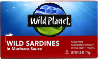 Wild Planet sardines are great in protein and omega 3's as well as healthy fats. An awesome snack in between meals.