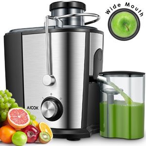 Aicok wide mouth centrifugal juicer