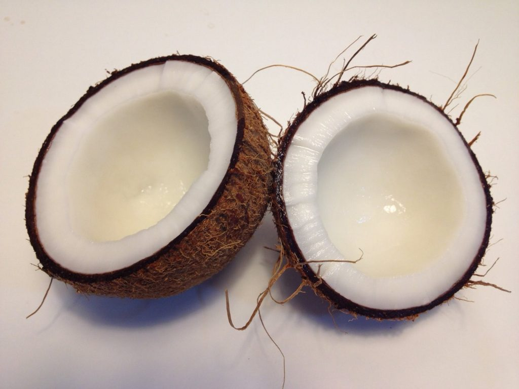 Coconut oil - An image of natures delicious super fruit.