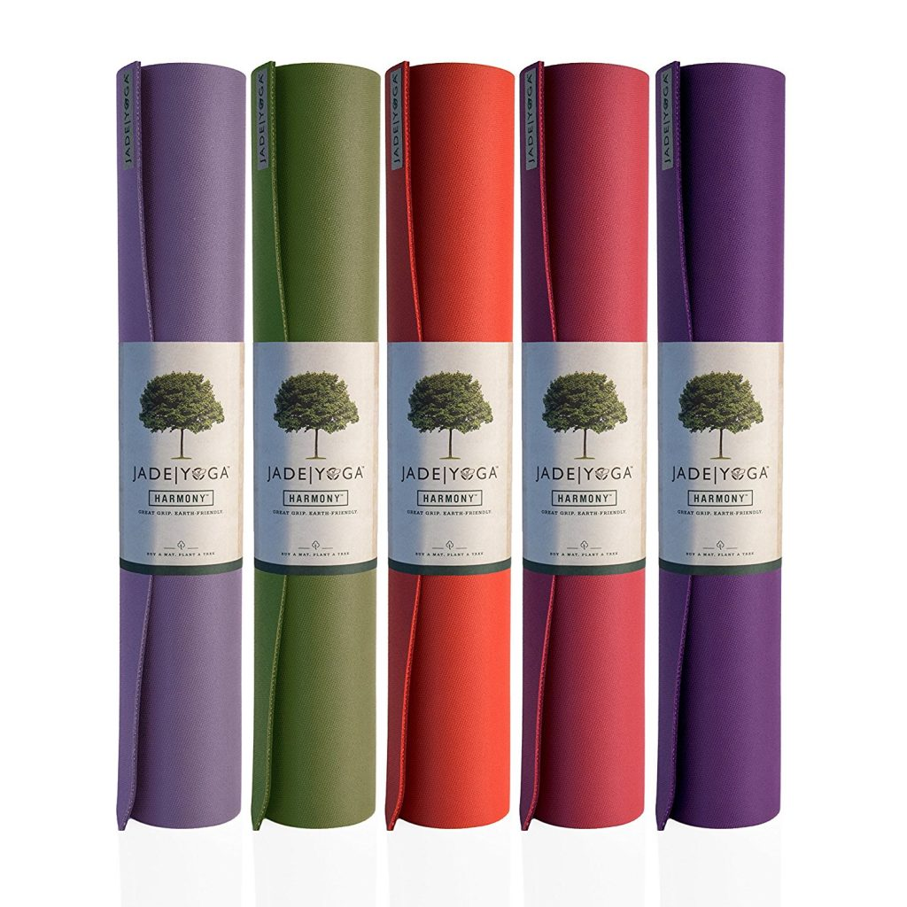 This yoga mat is eco-friendly and comes in various colors