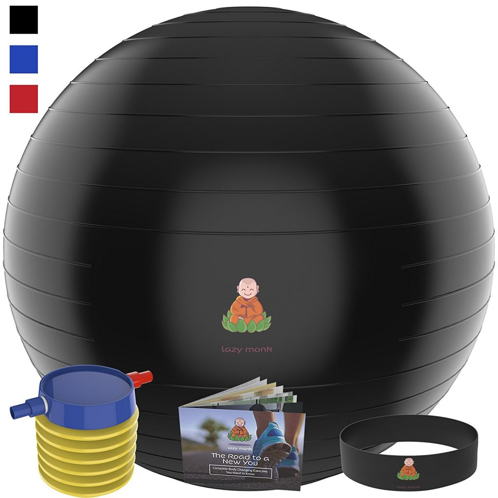 An image of Lazy Monk Exercise Ball Yoga Balance Ball with free pump