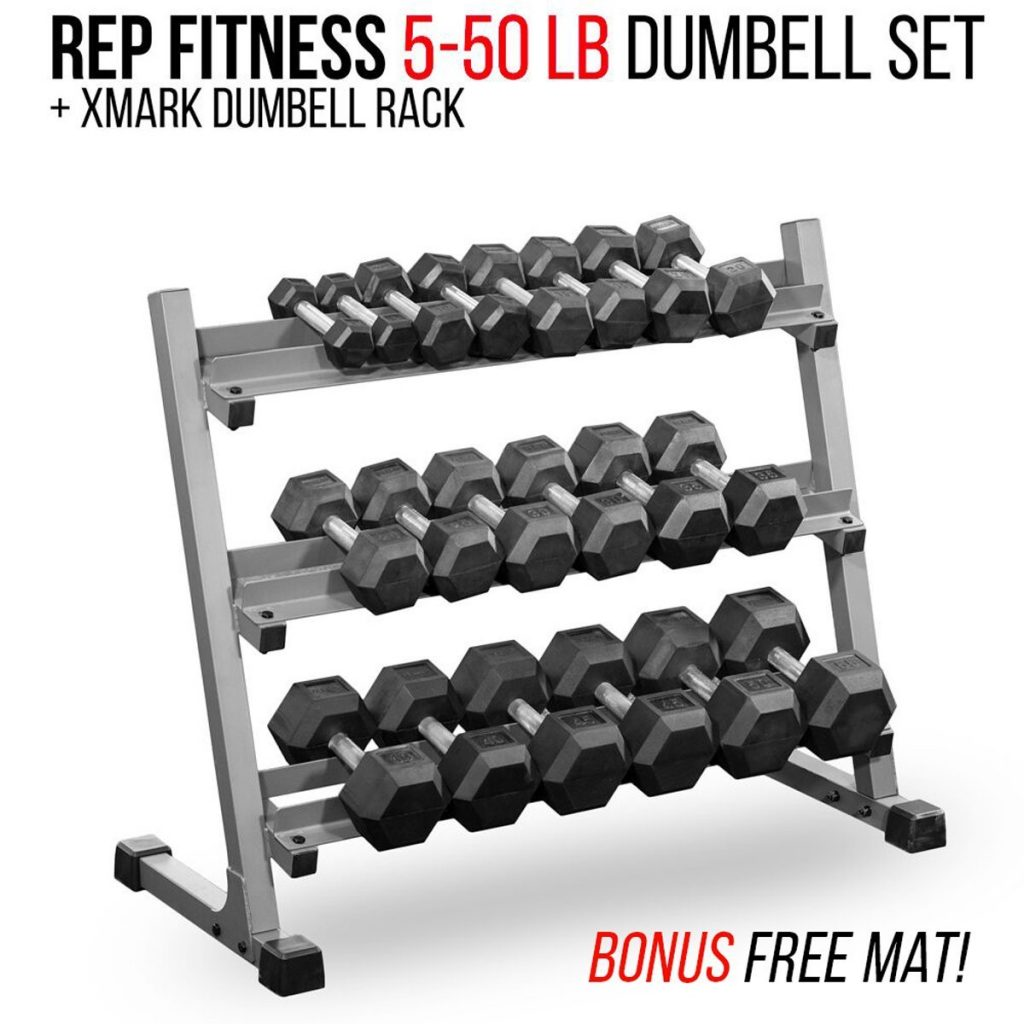 Rep Fitness Dumbbell Set with Racks