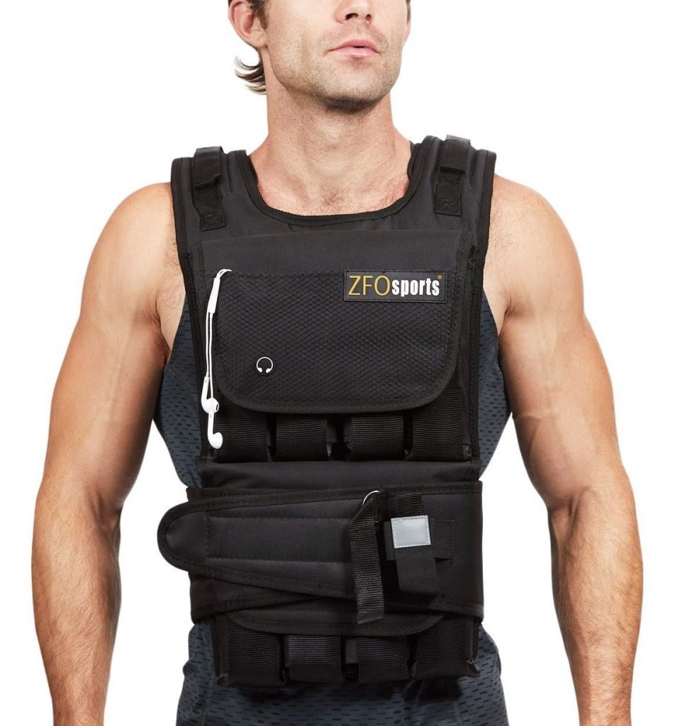 Weight vests - The ZFO sports weight vest features a pocket for your water bottle, phone, and additional weight pockets.