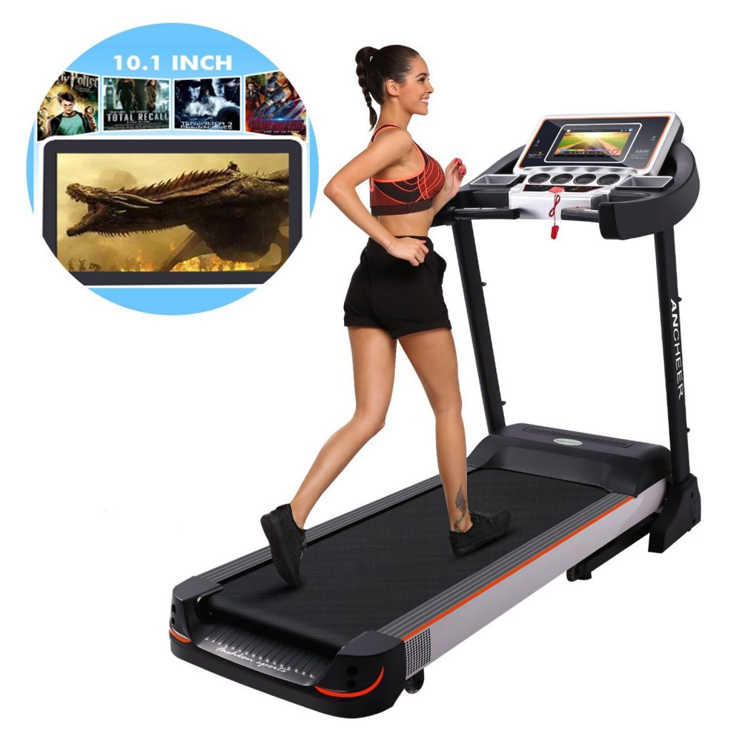 The Bellar 10.1 inch wifi large touch screen treadmill