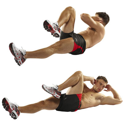 Bicycle kicks for abs
