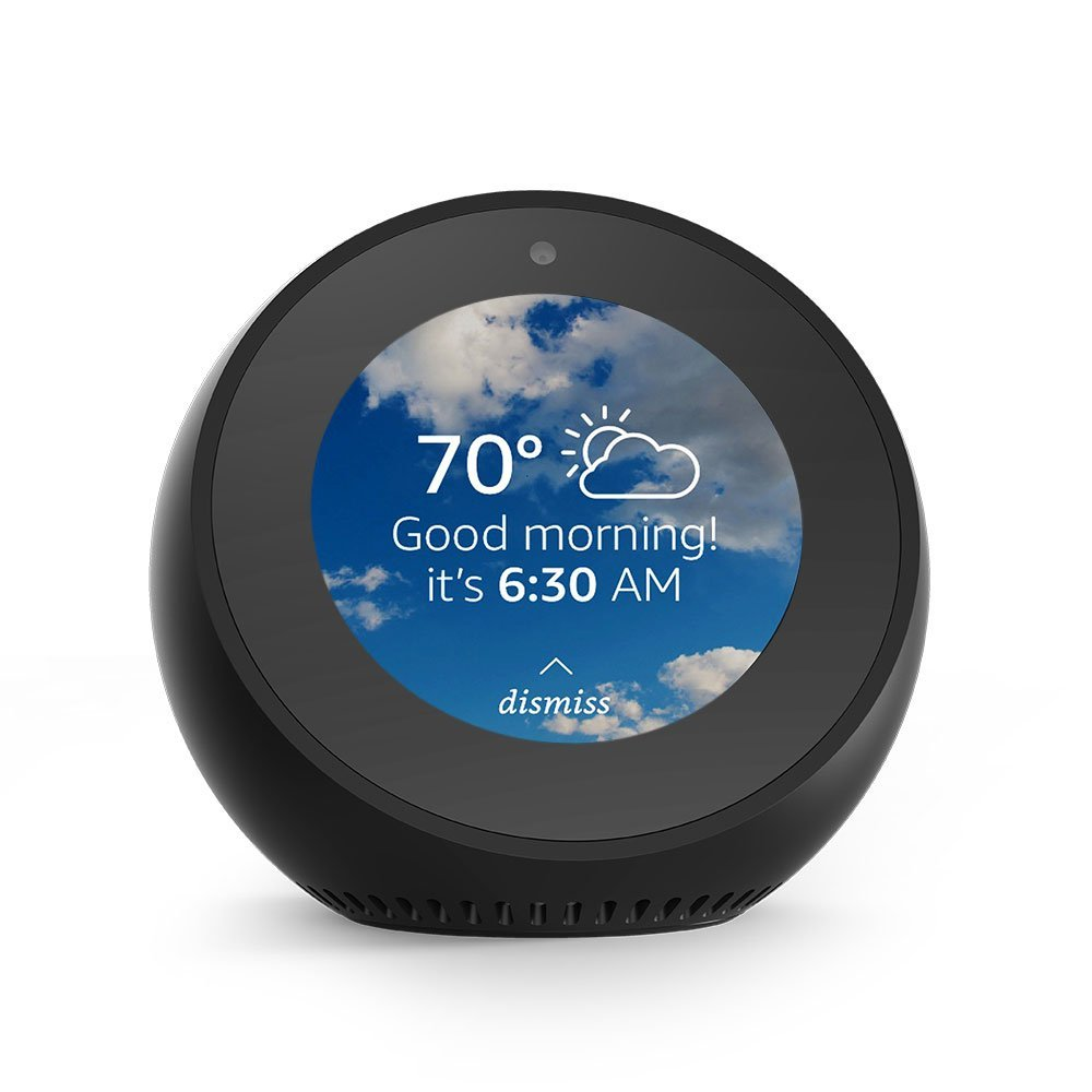 The Amazon Echo dot - the worlds smartest personal assistant that fits in the palm of your hand.