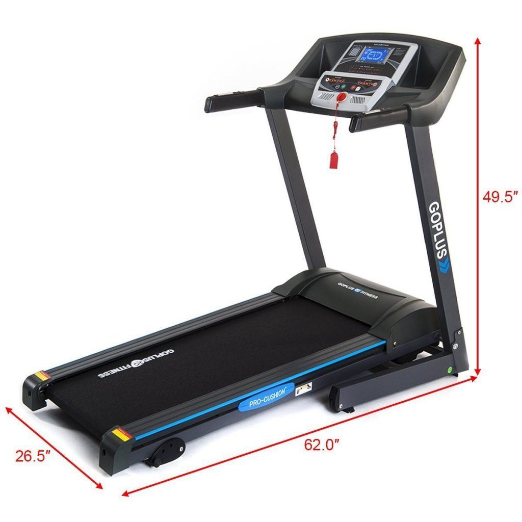 An image of the Gymax Cardio Folding Treadmill the best budget treadmill for your home or gym.