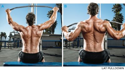 Lat pull downs for back