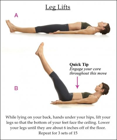 Leg lifts for lower abs