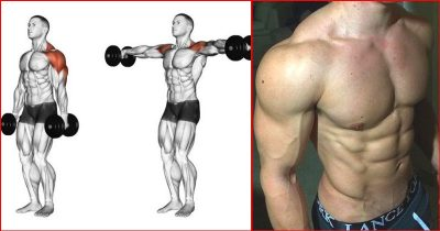 Lateral raises improve the bulk and size of the shoulders
