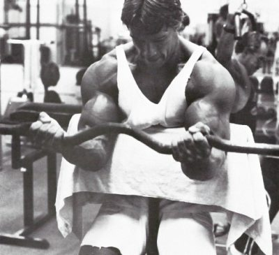Preacher curls as done by Arnold