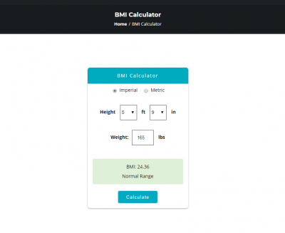A link to the BMI calculator for MyTotalOptimization